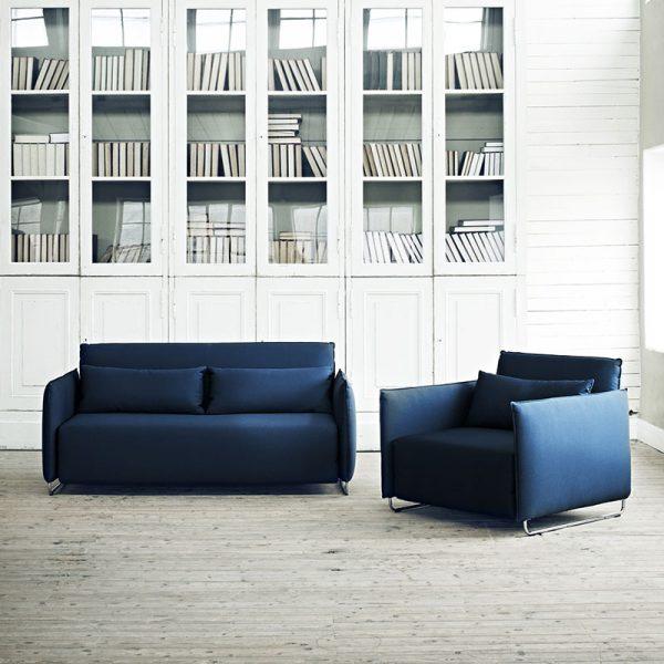 Cord Chair & Single Sofa Bed