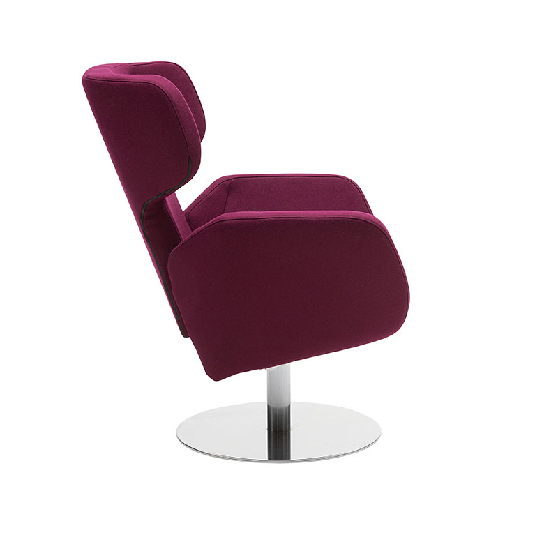 Softline Cosy Wing Chair Felt 629 Chrome 02