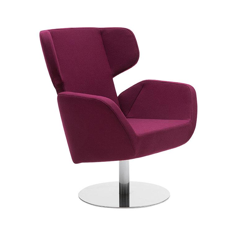 Softline Cosy Wing Chair Felt 629 Chrome 03