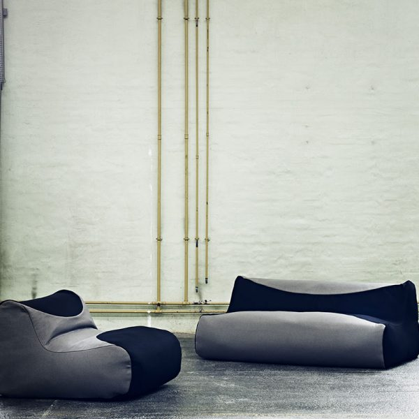 Fluid Two Seat Bean Bag Sofa