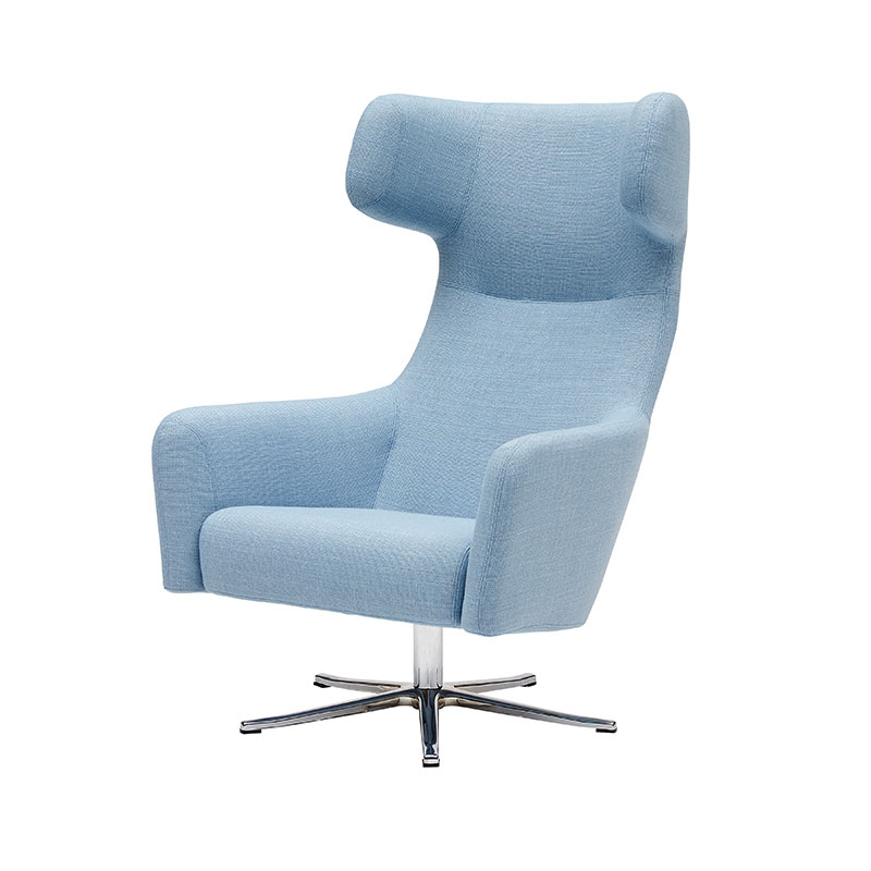 Softline Havana Wing Chair with Swivel Base 01 Olson and Baker - Designer & Contemporary Sofas, Furniture - Olson and Baker showcases original designs from authentic, designer brands. Buy contemporary furniture, lighting, storage, sofas & chairs at Olson + Baker.