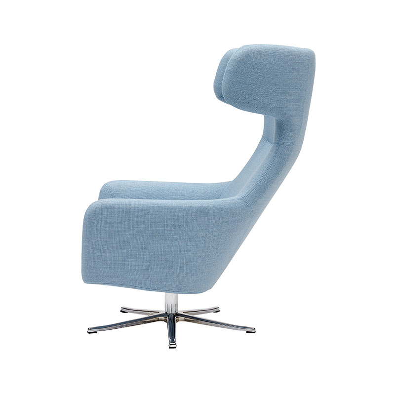 Softline Havana Wing Chair with Swivel Base 02 Olson and Baker - Designer & Contemporary Sofas, Furniture - Olson and Baker showcases original designs from authentic, designer brands. Buy contemporary furniture, lighting, storage, sofas & chairs at Olson + Baker.