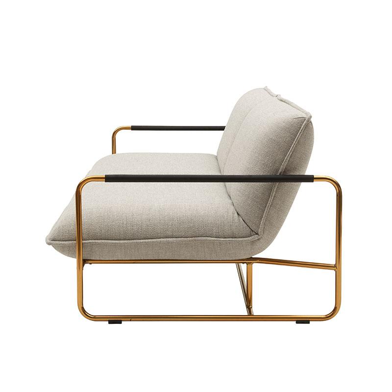 Softline Nova Three Seat Sofa Bed 213 Divina MD Brass 02