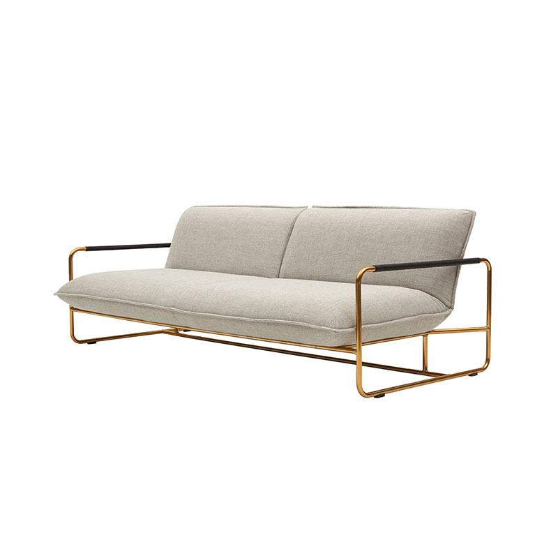 Softline Nova Three Seat Sofa Bed 213 Divina MD Brass 03