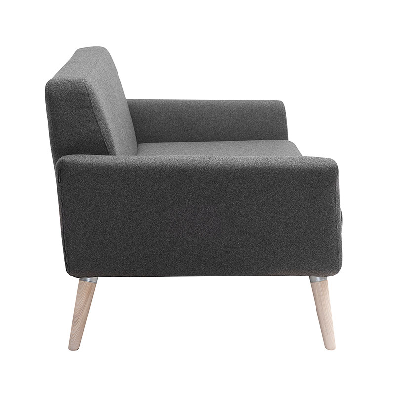 Softline Scope Two Seat Sofa Felt Melange 623 03 Olson and Baker - Designer & Contemporary Sofas, Furniture - Olson and Baker showcases original designs from authentic, designer brands. Buy contemporary furniture, lighting, storage, sofas & chairs at Olson + Baker.