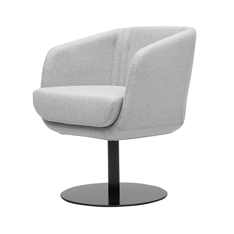 Softline Shelly Swivel Chair Felt Melange 620 Black 03