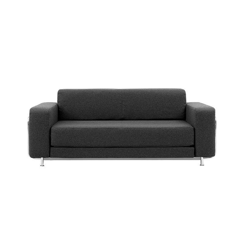 Softline Silver Two Seat Sofa Bed by Stine Engelbrechtsen Olson and Baker - Designer & Contemporary Sofas, Furniture - Olson and Baker showcases original designs from authentic, designer brands. Buy contemporary furniture, lighting, storage, sofas & chairs at Olson + Baker.