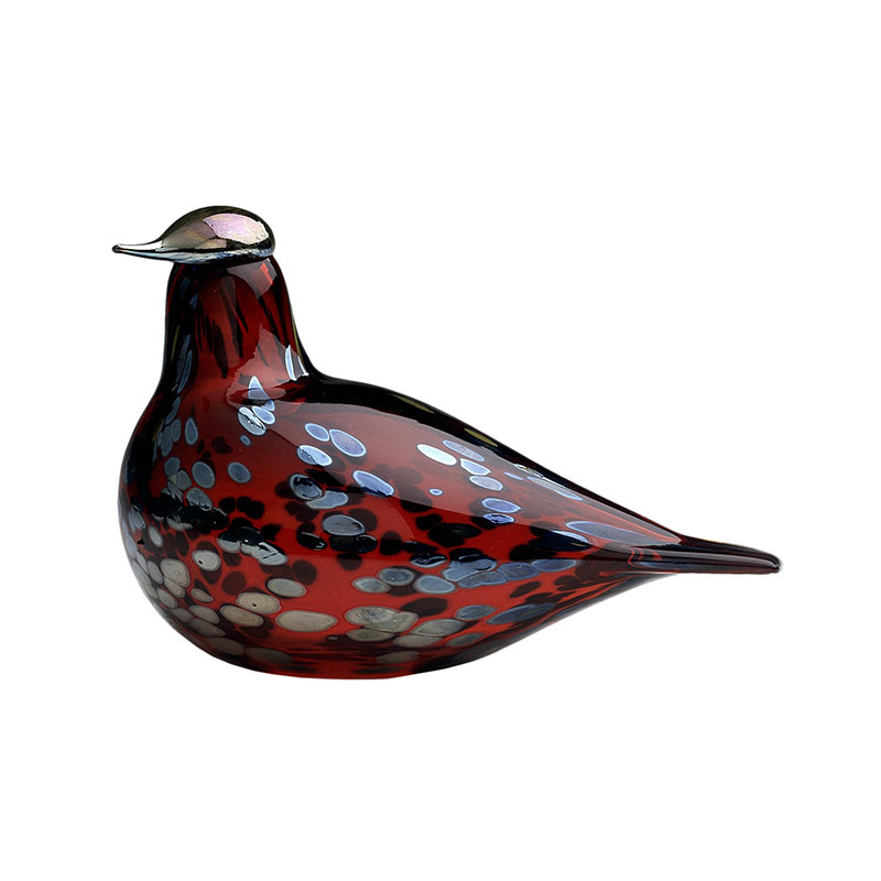 Iittala Birds by Toikka 210x130mm Ruby Bird Cranberry by Oiva Toikka