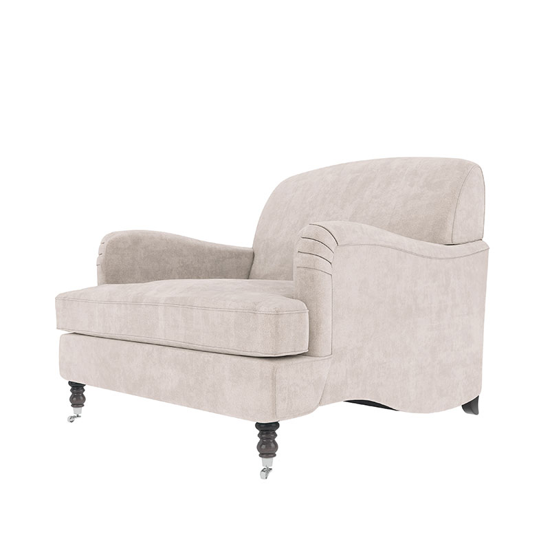 Olson-and-Baker-Anning-Armchair-95cm-02-Plush-Bone Olson and Baker - Designer & Contemporary Sofas, Furniture - Olson and Baker showcases original designs from authentic, designer brands. Buy contemporary furniture, lighting, storage, sofas & chairs at Olson + Baker.
