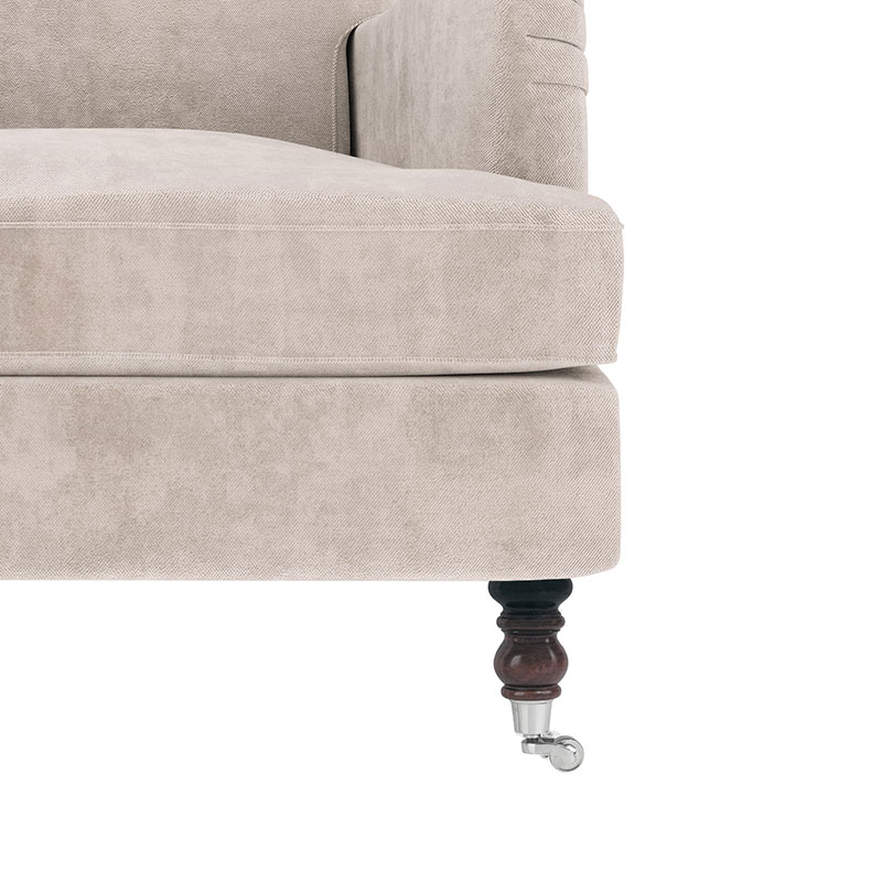Olson-and-Baker-Anning-Leg-Detail-01-Plush-Bone Olson and Baker - Designer & Contemporary Sofas, Furniture - Olson and Baker showcases original designs from authentic, designer brands. Buy contemporary furniture, lighting, storage, sofas & chairs at Olson + Baker.