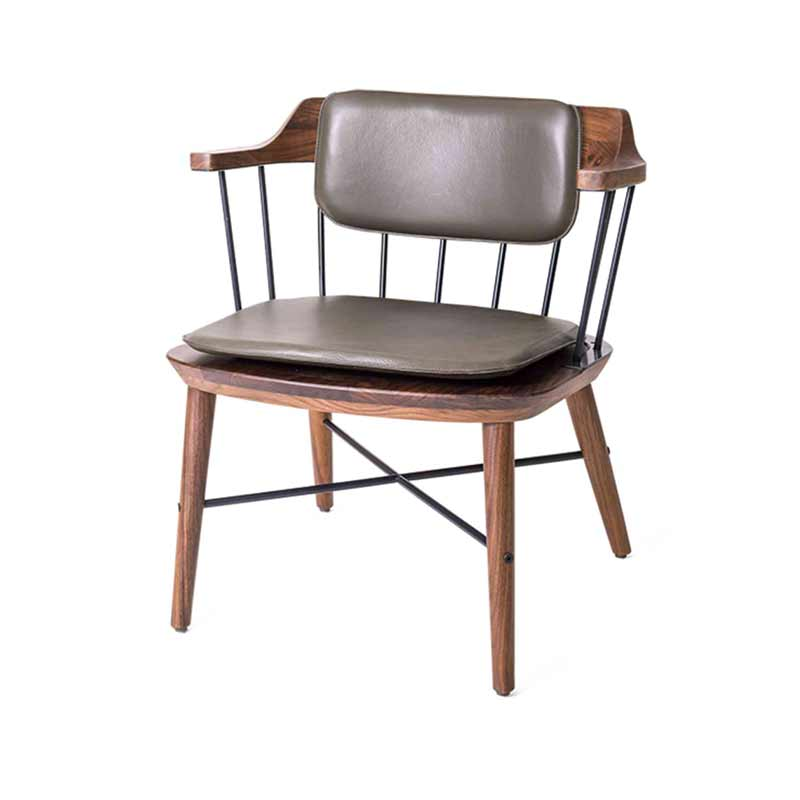 Stellar Works Exchange Chair with Back Cushion by Crème