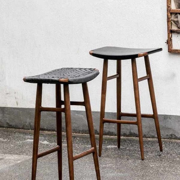 Freja Leather Seat Bar Stool
