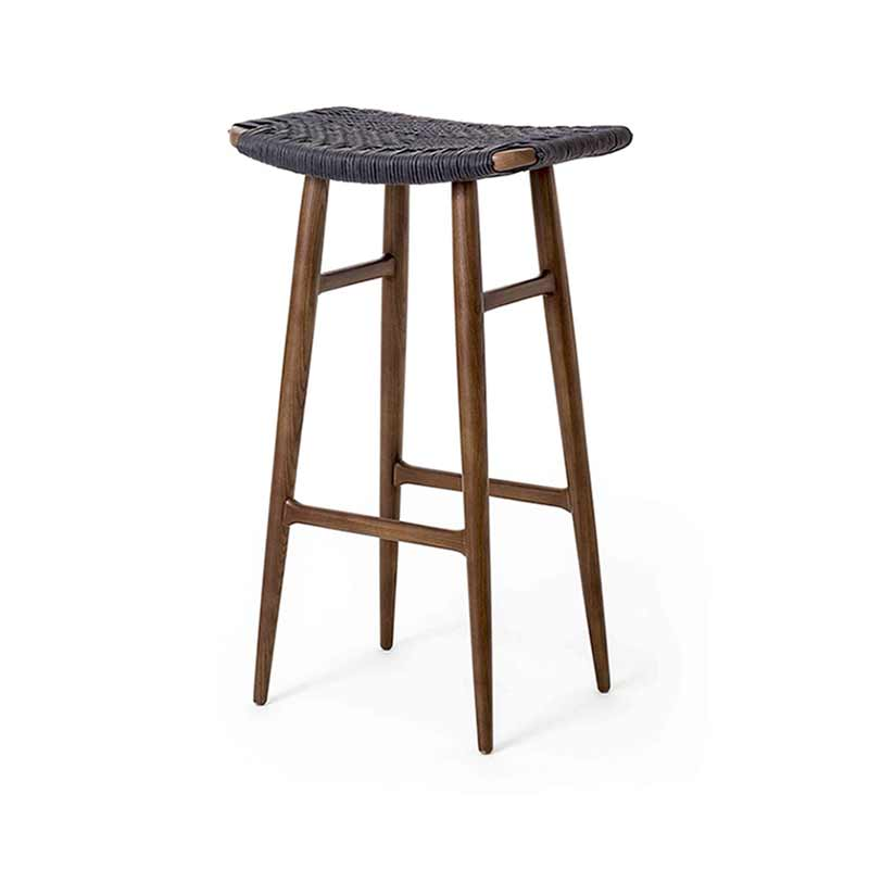 Stellar Works Freja Paper Cord Seat Bar Stool by Space Copenhagen
