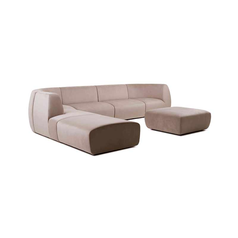 Stellar Works Infinity Four Seat Left Hand Facing Modular Sofa by Space Copenhagen