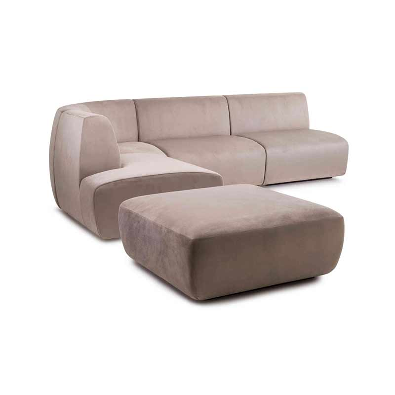 Stellar Works Infinity Three Seat Left Hand Facing Modular Sofa by Space Copenhagen