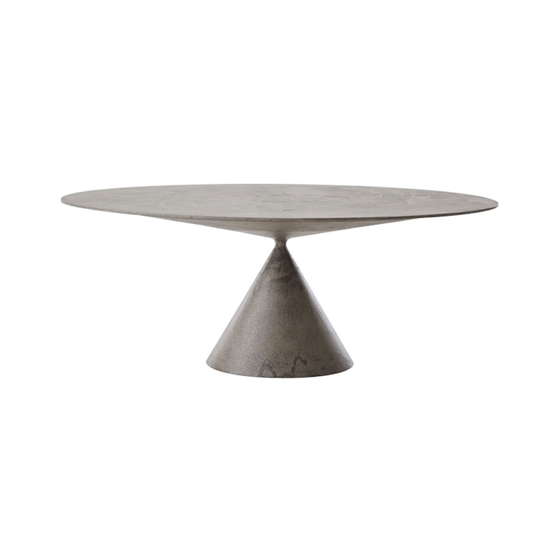 Desalto Clay Outdoor Oval 120x180cm Table in Stone by Marc Krusin