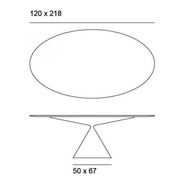 Clay Oval Ø120x218cm Table