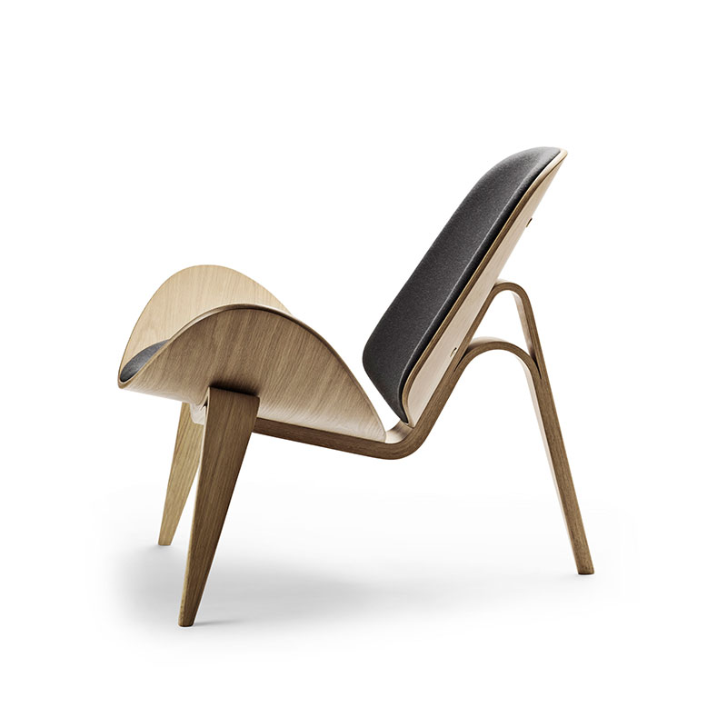 Carl Hansen CH07 Shell Lounge Chair by Hans Wegner Oak Oil Thor 301 3 Olson and Baker - Designer & Contemporary Sofas, Furniture - Olson and Baker showcases original designs from authentic, designer brands. Buy contemporary furniture, lighting, storage, sofas & chairs at Olson + Baker.