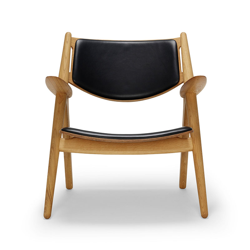 Carl Hansen CH28P Upholstered Lounge Chair by Hans Wegner