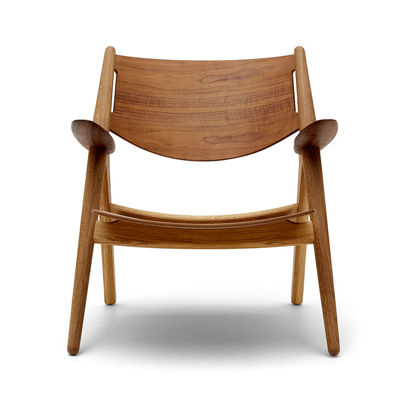 Carl Hansen CH28T Unupholstered Lounge Chair by Hans Wegner
