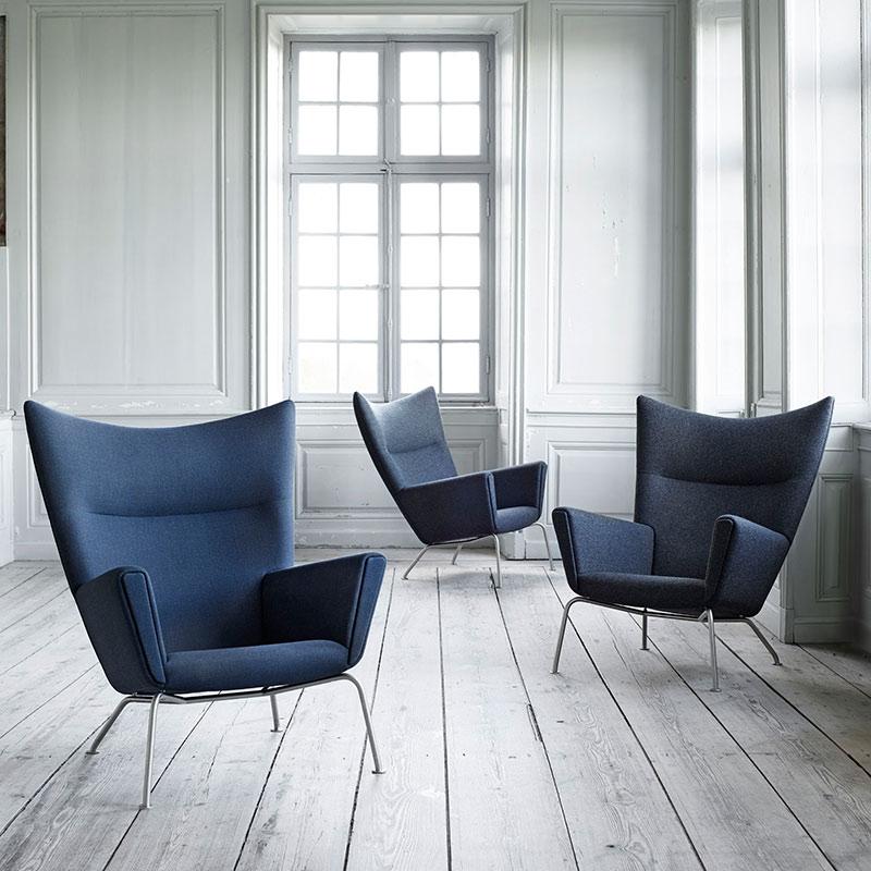 Carl Hansen CH445 Wing Lounge Chair by Hans Wegner Canvas 2 746 life