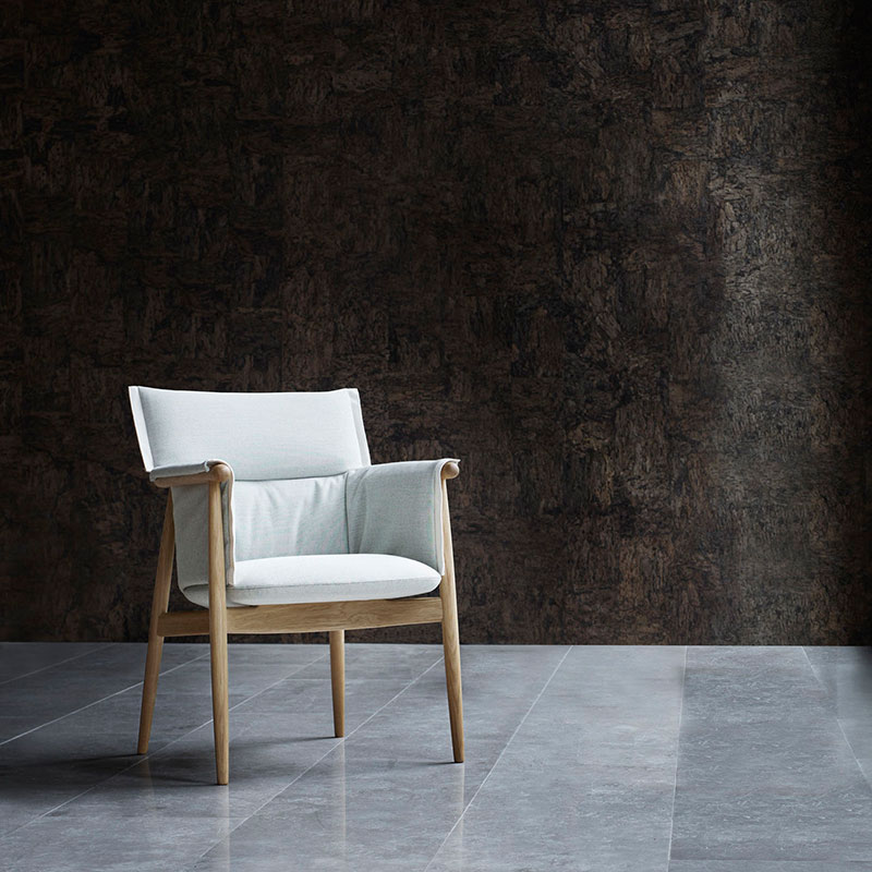 Carl Hansen E005 Embrace Armchair by E00S life 4 Olson and Baker - Designer & Contemporary Sofas, Furniture - Olson and Baker showcases original designs from authentic, designer brands. Buy contemporary furniture, lighting, storage, sofas & chairs at Olson + Baker.