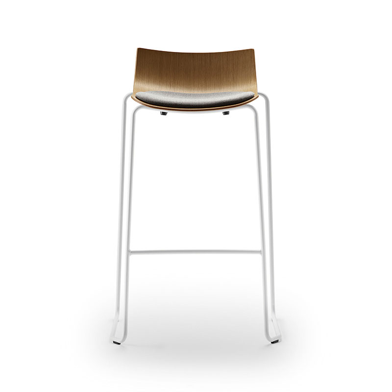 Carl Hansen BA004S Preludia Seat Upholstered Bar Stool by Brad Ascalon