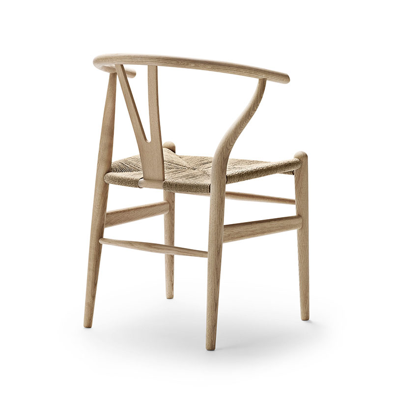 Carl Hansen CH24 Wishbone Chair by Hans Wegner Soaped Oak with Natural Paper Cord 2 Olson and Baker - Designer & Contemporary Sofas, Furniture - Olson and Baker showcases original designs from authentic, designer brands. Buy contemporary furniture, lighting, storage, sofas & chairs at Olson + Baker.