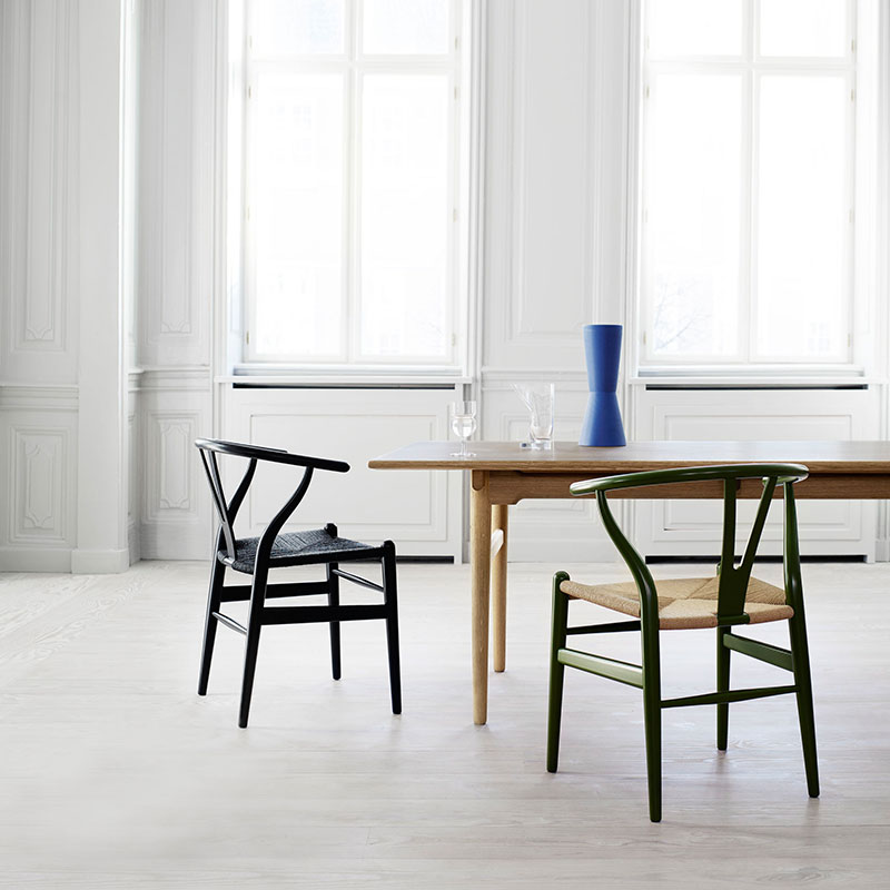 Carl Hansen CH24 Wishbone Chair by Hans Wegner life 5 Olson and Baker - Designer & Contemporary Sofas, Furniture - Olson and Baker showcases original designs from authentic, designer brands. Buy contemporary furniture, lighting, storage, sofas & chairs at Olson + Baker.