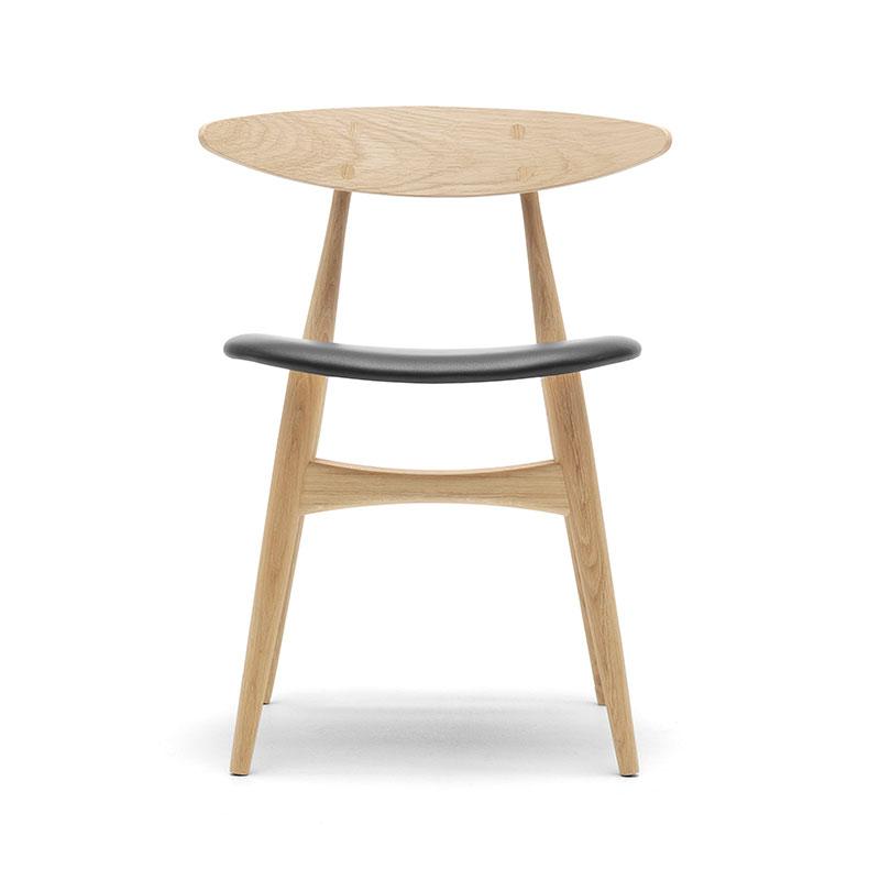 Carl Hansen CH33P Seat Upholstered Chair by Hans Wegner