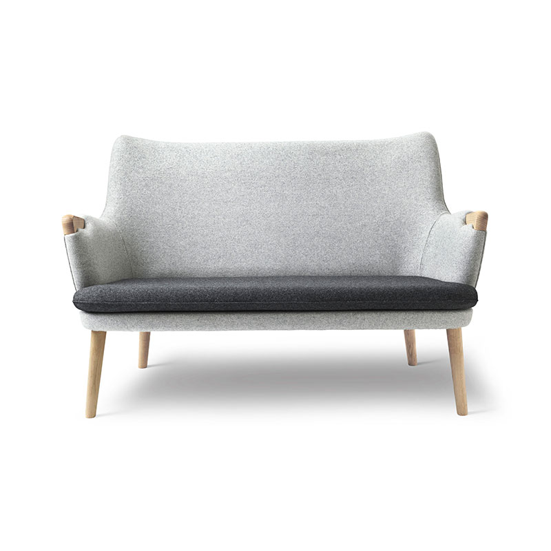 Carl Hansen CH72 Two Seat Sofa with Loose Seat Cushion by Hans Wegner