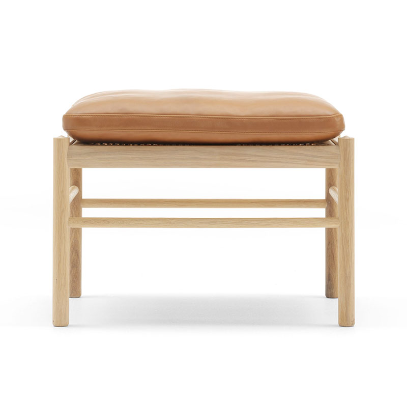 Carl Hansen OW149F Colonial Footstool by Ole Wanscher Olson and Baker - Designer & Contemporary Sofas, Furniture - Olson and Baker showcases original designs from authentic, designer brands. Buy contemporary furniture, lighting, storage, sofas & chairs at Olson + Baker.