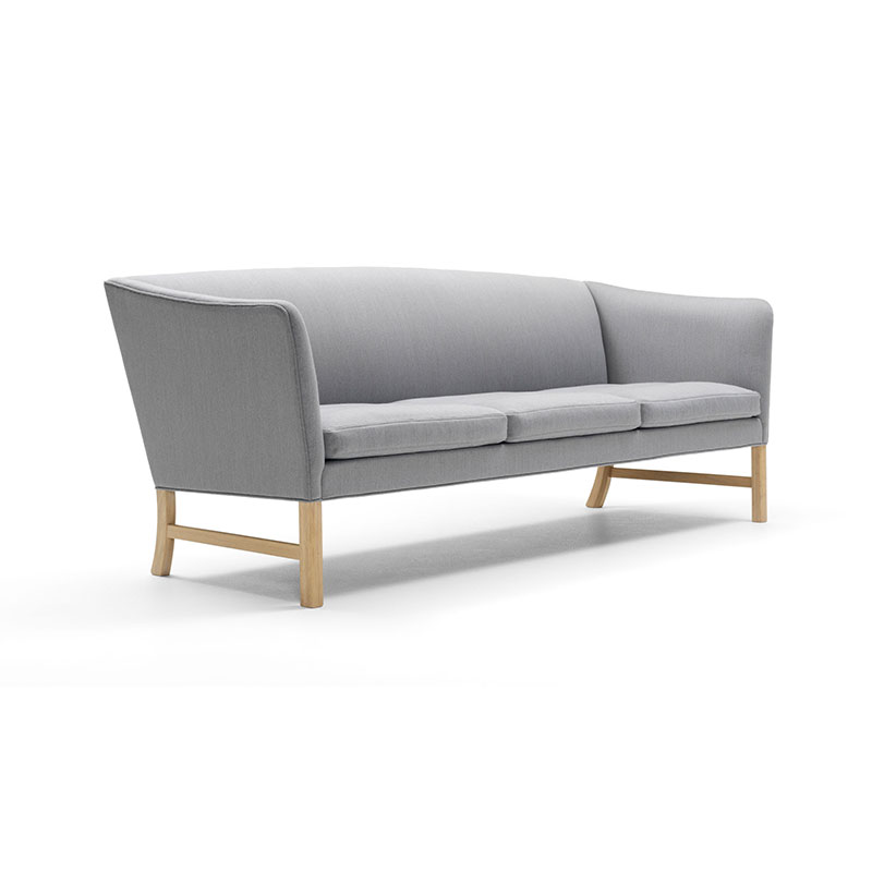 Carl Hansen OW603 Three Seat Sofa by Ole Wanscher 2Kvadrat - 124 Canvas 2 Olson and Baker - Designer & Contemporary Sofas, Furniture - Olson and Baker showcases original designs from authentic, designer brands. Buy contemporary furniture, lighting, storage, sofas & chairs at Olson + Baker.