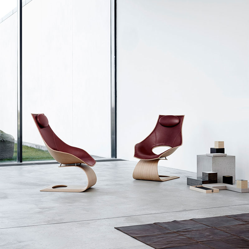 Carl Hansen TA001P Upholstered Dream Chair by Tadao Ando lifestyle 1 Olson and Baker - Designer & Contemporary Sofas, Furniture - Olson and Baker showcases original designs from authentic, designer brands. Buy contemporary furniture, lighting, storage, sofas & chairs at Olson + Baker.