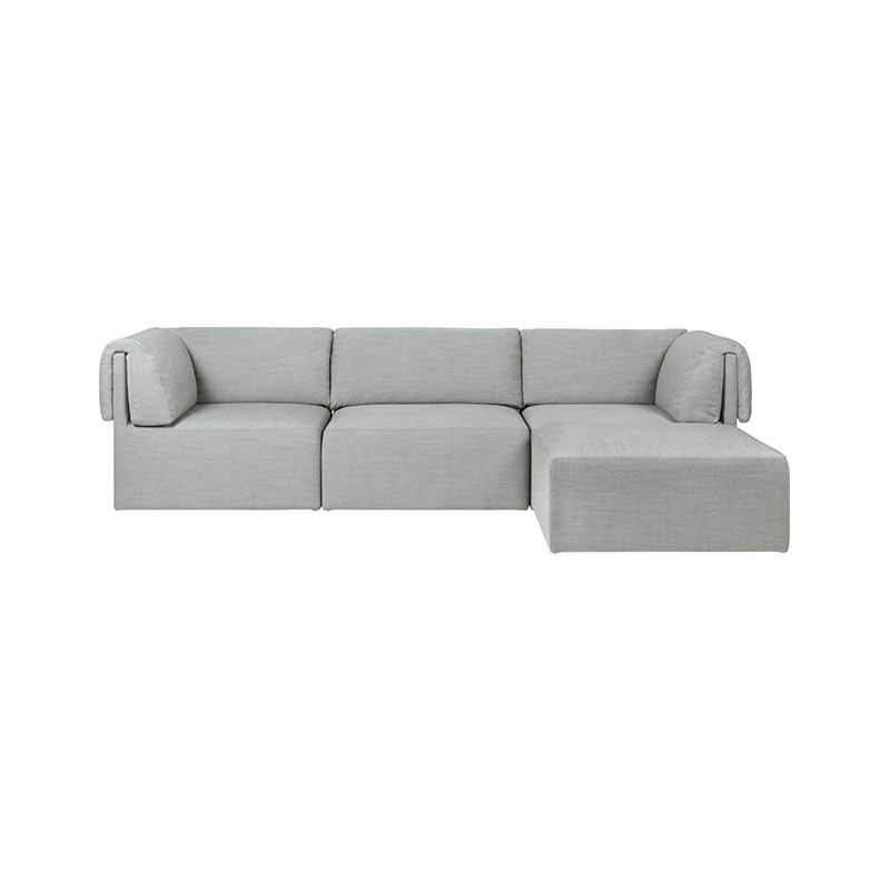 Gubi Wonder Three Seat Sofa with Chaise Lounge by Space Copenhagen