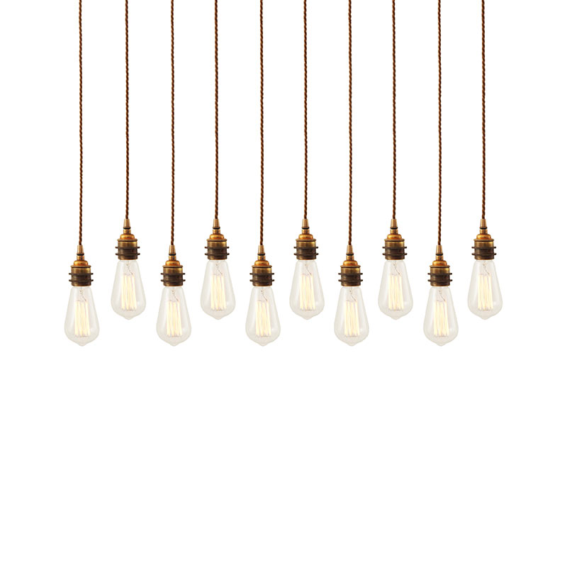 Mullan Lighting Lome Cluster of Ten Chandelier by Mullan Lighting Olson and Baker - Designer & Contemporary Sofas, Furniture - Olson and Baker showcases original designs from authentic, designer brands. Buy contemporary furniture, lighting, storage, sofas & chairs at Olson + Baker.