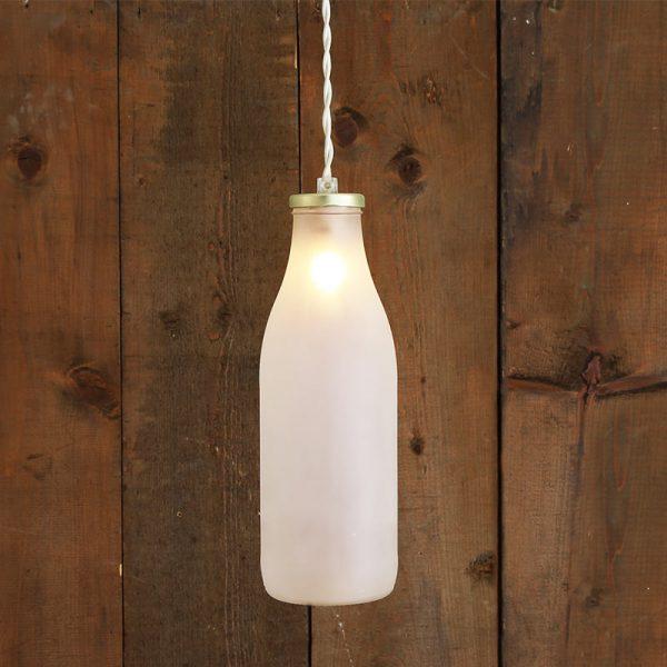 Milk Bottle Pendant Light