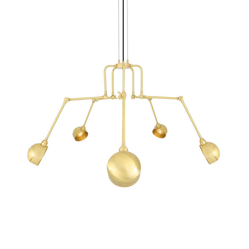 Mullan Lighting San Jose Five Arm Chandelier by Mullan Lighting Olson and Baker - Designer & Contemporary Sofas, Furniture - Olson and Baker showcases original designs from authentic, designer brands. Buy contemporary furniture, lighting, storage, sofas & chairs at Olson + Baker.