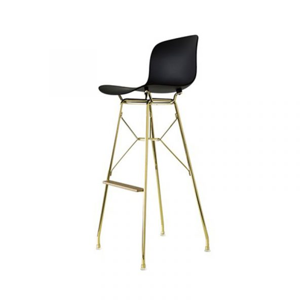 Troy Bar Stool with Steel Rod Base