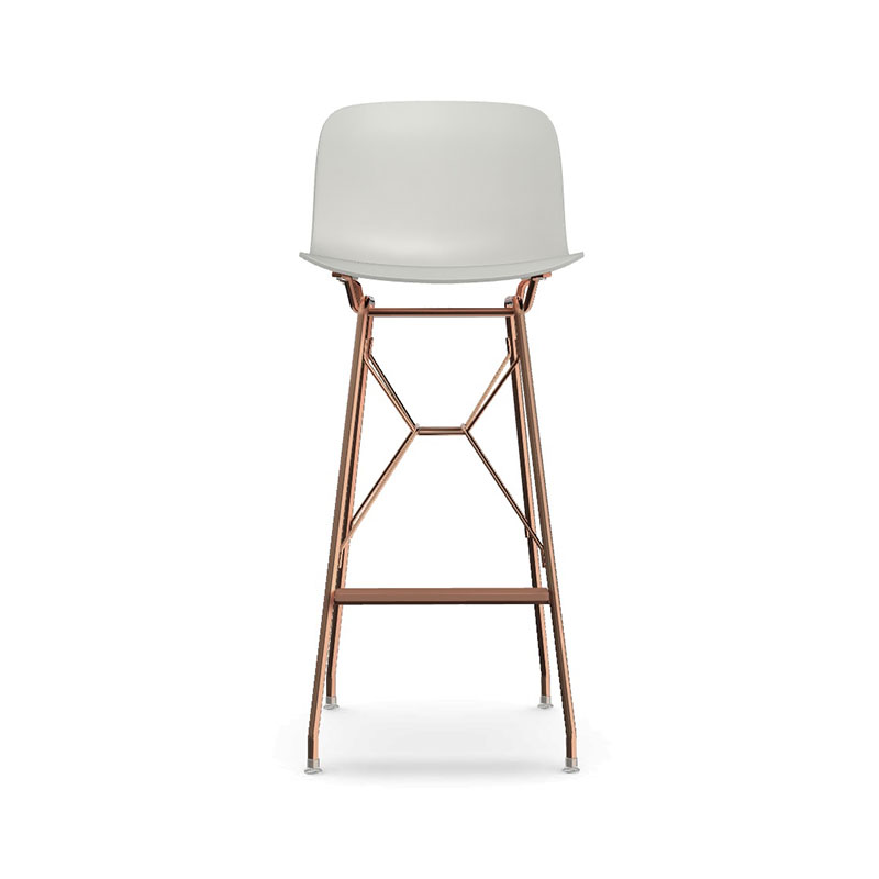 Magis Troy Counter Stool with Steel Rod Base by Marcel Wanders