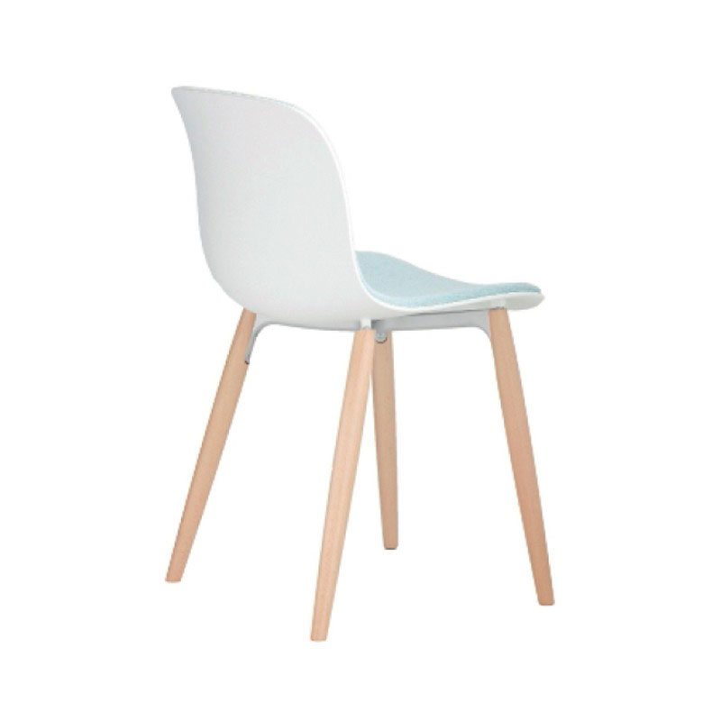Magis Troy Front Upholstered Chair with Beech Base by Marcel Wanders