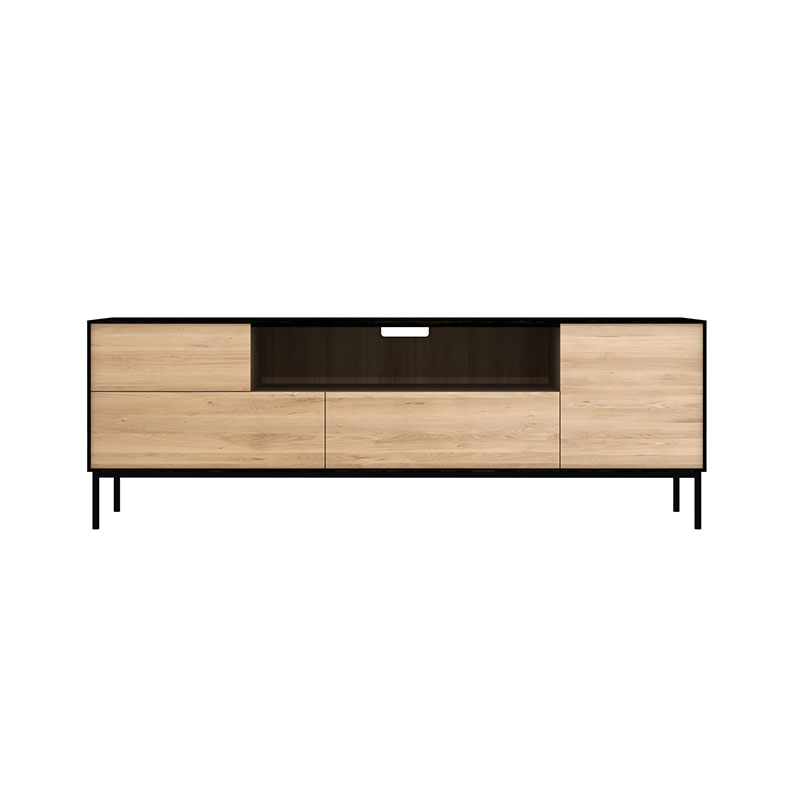 Ethnicraft Blackbird TV Cupboard by Alain Van Havre Olson and Baker - Designer & Contemporary Sofas, Furniture - Olson and Baker showcases original designs from authentic, designer brands. Buy contemporary furniture, lighting, storage, sofas & chairs at Olson + Baker.