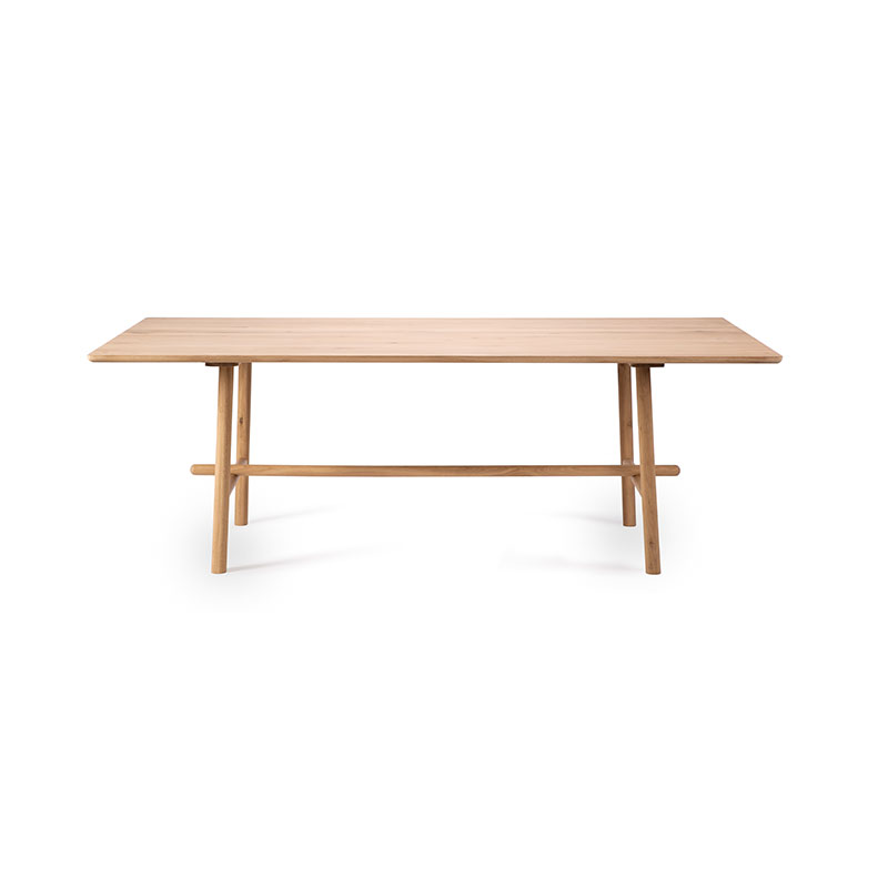 Ethnicraft Profile Rectangular Dining Table by Alain Van Havre Olson and Baker - Designer & Contemporary Sofas, Furniture - Olson and Baker showcases original designs from authentic, designer brands. Buy contemporary furniture, lighting, storage, sofas & chairs at Olson + Baker.