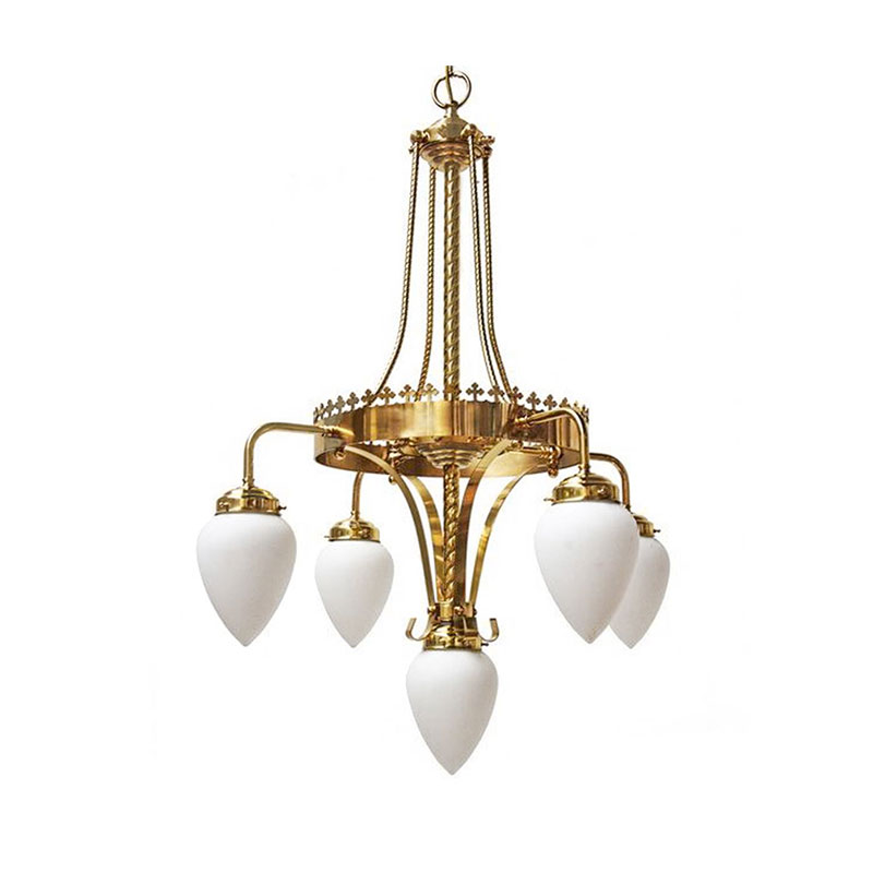 Mullan Lighting Killarney Four Arm Chandelier by Mullan Lighting Olson and Baker - Designer & Contemporary Sofas, Furniture - Olson and Baker showcases original designs from authentic, designer brands. Buy contemporary furniture, lighting, storage, sofas & chairs at Olson + Baker.