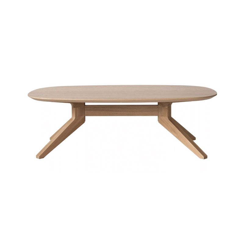 Case Furniture Cross Oval Coffee Table by Matthew Hilton Olson and Baker - Designer & Contemporary Sofas, Furniture - Olson and Baker showcases original designs from authentic, designer brands. Buy contemporary furniture, lighting, storage, sofas & chairs at Olson + Baker.
