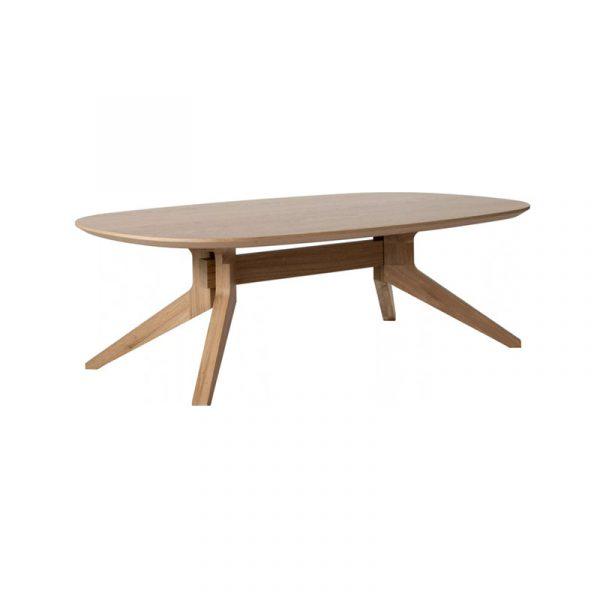 Cross Oval Coffee Table