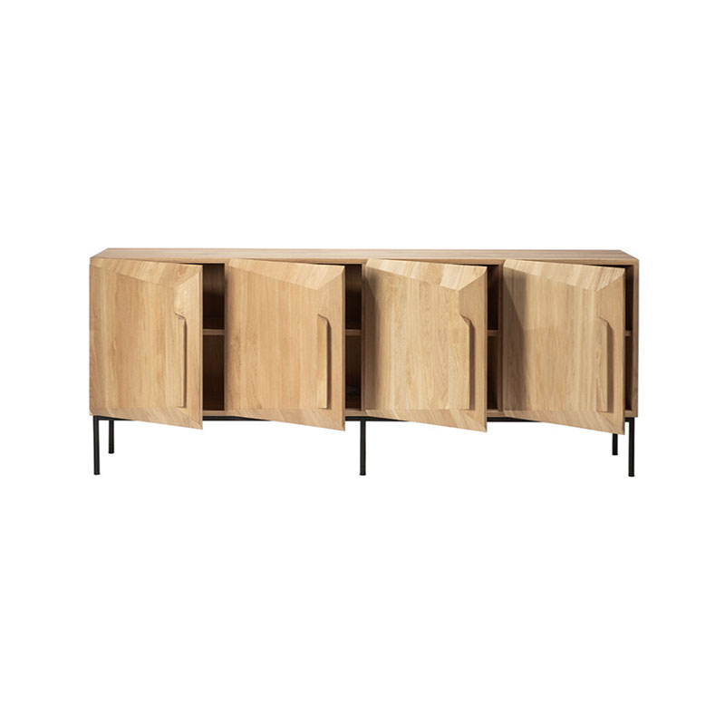 Ethnicraft 200cm Stairs Sideboard by Alain van Havre in oak 2 Olson and Baker - Designer & Contemporary Sofas, Furniture - Olson and Baker showcases original designs from authentic, designer brands. Buy contemporary furniture, lighting, storage, sofas & chairs at Olson + Baker.