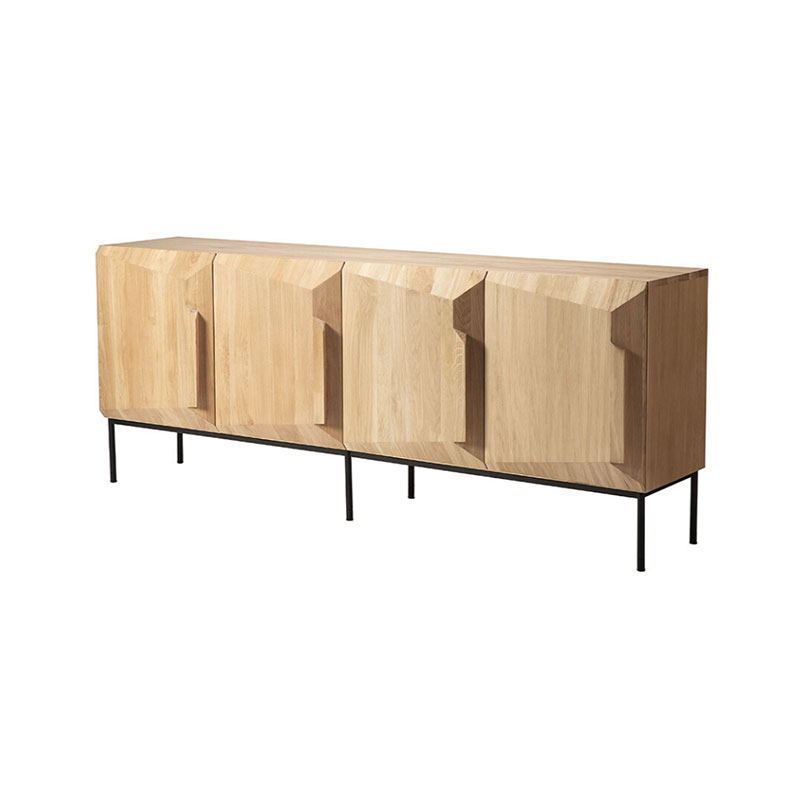 Ethnicraft 200cm Stairs Sideboard by Alain van Havre in oak 4 Olson and Baker - Designer & Contemporary Sofas, Furniture - Olson and Baker showcases original designs from authentic, designer brands. Buy contemporary furniture, lighting, storage, sofas & chairs at Olson + Baker.
