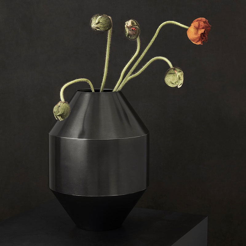 Fredericia_Hydro_Ø15cm_Vase_by_Sofie_Osterby_3 Olson and Baker - Designer & Contemporary Sofas, Furniture - Olson and Baker showcases original designs from authentic, designer brands. Buy contemporary furniture, lighting, storage, sofas & chairs at Olson + Baker.