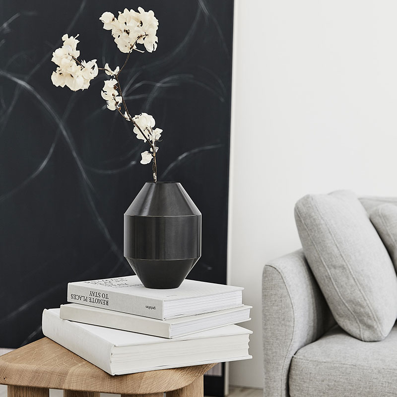 Fredericia_Hydro_Ø15cm_Vase_by_Sofie_Osterby_6 Olson and Baker - Designer & Contemporary Sofas, Furniture - Olson and Baker showcases original designs from authentic, designer brands. Buy contemporary furniture, lighting, storage, sofas & chairs at Olson + Baker.